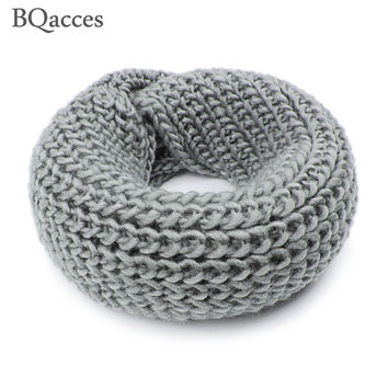 New women solid color chunky knitting wool snood infinity scarf winter neck warmer cowl collar circle scarves bufandas cuellos