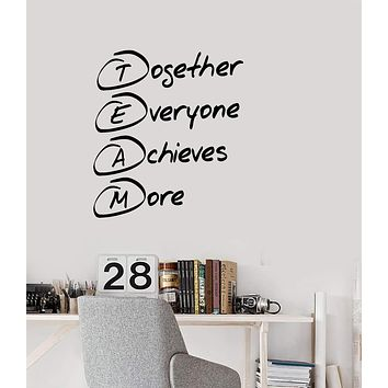 Vinyl Decal Style Wall Sticker Mural Team Building Decor for Office Unique Gift (g101)