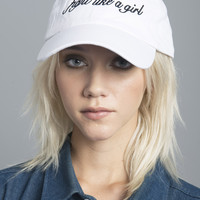 Fight Like A Girl White Baseball Cap