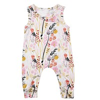 Baby Clothes Newborn Baby Romper Summer Costume Overalls Floral Baby Girl Clothing