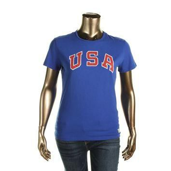 Polo Ralph Lauren Womens Jersey USA Graphic T-Shirt