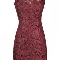 Lily Boutique Burgundy Lace Dress, Red Lace Dress, Cute Lace Dress, Cute Holiday Dress, Cute Christmas Dress, Cute Christmas Party Dress, Red Lace Sheath Dress, Burgundy Lace Sheath Dress, Maroon Lace Sheath Dress, Red Lace Party Dress, Burgundy Lace Cockt
