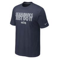 Nike Just Do It NFL Seattle Seahawks Men's T-Shirt - College Navy