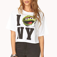 Oscar The Grouch NY Crop Top