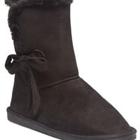 Side Tie Comfy Boots | Wet Seal