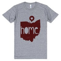 Ohio Love (athletic)-Unisex Athletic Grey T-Shirt
