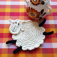Sheep Coasters - set of 2