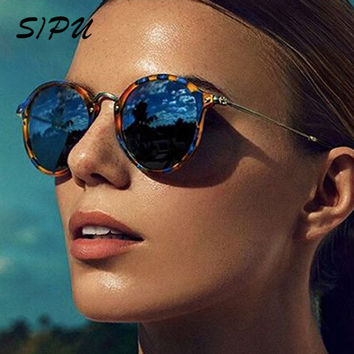 Retro Male Sunglasses Round Metal Men Brand Designer Sun Glasses for Women Mirror Sunglasses Women Ray Ladies Oculos De Sol