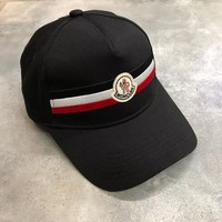 MONCLER Baseball Cap Hat - Black