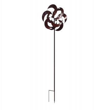 Flower Petal Iron Windmill