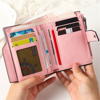 Wallet Multi Function Change Purses Large Capacity Zipper Women Wallets Cute Card Hold Money Bag B2001-3