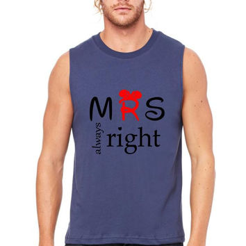Mrs. always right Muscle Tank