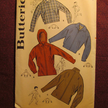 Uncut 1950's Butterick Sewing pattern, 9649! Size 10 Chest 28 Boys/Kids/Child/Hooded Jackets/Collared Coats/Stand Up Collar Blazer/Winter