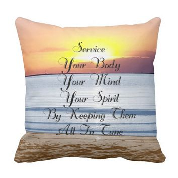 Service Quote by Kat Worth Outdoor Pillow