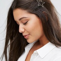 Orelia Open Star Hair Clip at asos.com