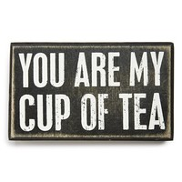 Primitives by Kathy 'My Cup of Tea' Box Sign