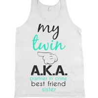 My Twin Left-Unisex White Tank