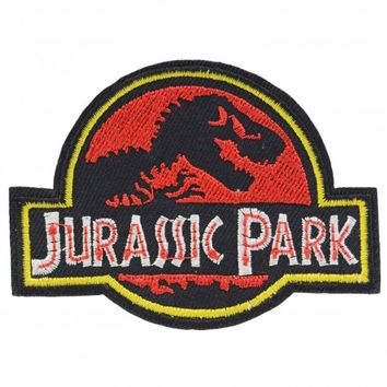 Jurassic Park Logo Iron On Patch | Costume Movie