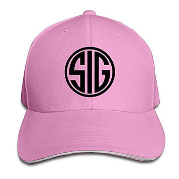 Sig Sauer Logo Adjustable Hat Baseball Cap Pink