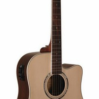 Wood Song DCE-NA Dereadnought Model with Cutaway and built in pickup w/Gig Bag