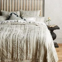 Draped Wisteria Quilt by Anthropologie