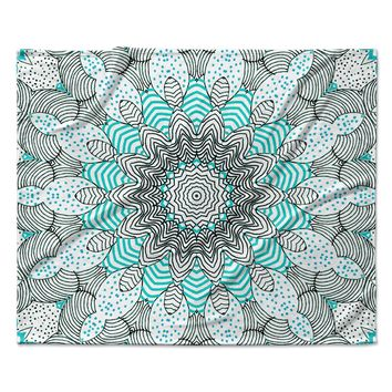 "Monika Strigel ""Dots and Stripes Mint"" Fleece Throw Blanket"