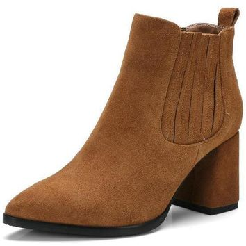 Rebecca Suede Ankle Boots