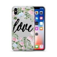 Floral Love - Clear TPU Case Cover