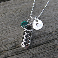 Irish Dance Soft Shoe Ghillie Personalized Necklace Sterling Silver Swarovski Charm Dancing