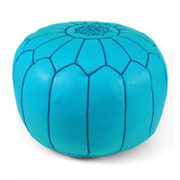 Moroccan Pouf - Ice Blue