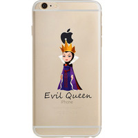 Disney's Villains (Evil Queen) Jelly Clear Case For Apple Iphone 7