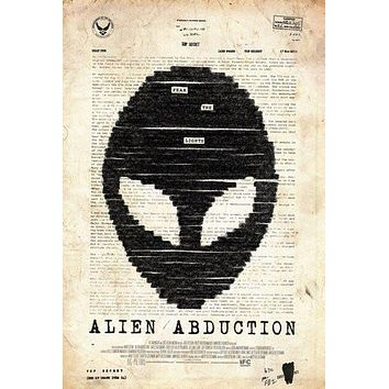Alien Abduction poster Metal Sign Wall Art 8in x 12in