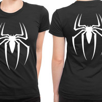 Spiderman Basic Logo 2 Sided Womens T Shirt