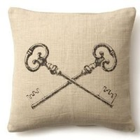 One Kings Lane - French Laundry - Key Pillow, Sand
