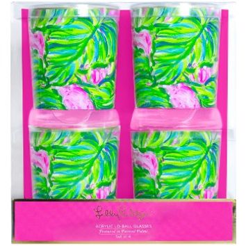 Lilly Pulitzer® Set of 4 Lowball Glasses | Nordstrom