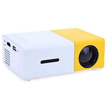 Newest Original YG - 300 LCD Projector Mini Portable 400 - 600LM LED lamp 320 x 240 Pixels Media Player Best for Home Projector