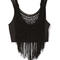 Fringe Queen Crop Top