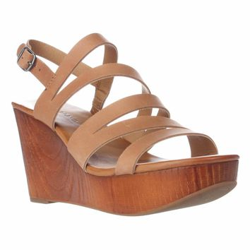 Lucky Brand Marinaa Wedge Strappy Sandals, Clay, 10 US