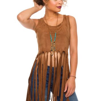 Foxy Fringe Crop Top