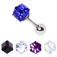 316L Surgical Steel Cubed Prism Cartilage Earring