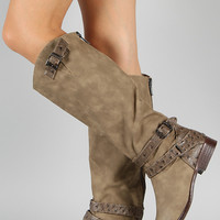 Dollhouse Ride Buckle Riding Knee High Boot