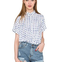 Polka Dot Brush Shirt