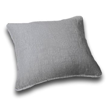 "DaDa Bedding Set of Two Elegant Floral Grey Diamond Throw Pillow Covers, 18"",  2-PCS (JHW855)"