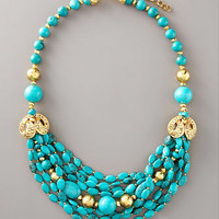 Jose & Maria Barrera - Turquoise & Gold Necklace - Bergdorf Goodman