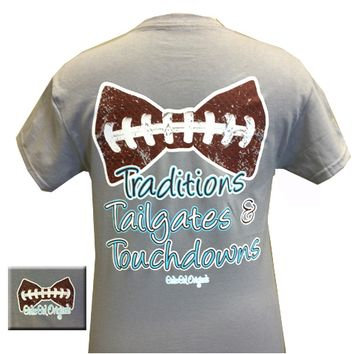 Traditions, Tailgates, & Touchdowns Tee - Gravel