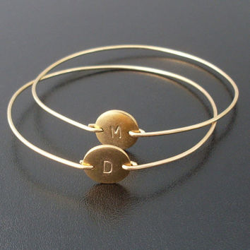 Initial Personalized Monogram A / M Bangle Bracelet Filled Band Fashion Beautiful Jewelry for Woman Hot Selling YPQ0075