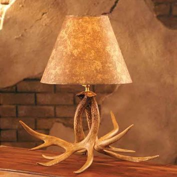Whitetail Antler Desk Lamp