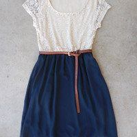 Lace & Navy Dress