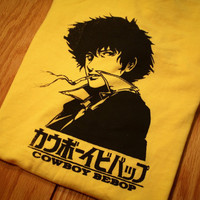 Cowboy Bebop - Spike Spiegel Screenprinted Shirt