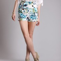 Garden of Good Floral Shorts in  Bottoms at Frock Candy
